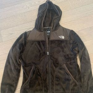 Brown The North Face Fuzzy Jacket